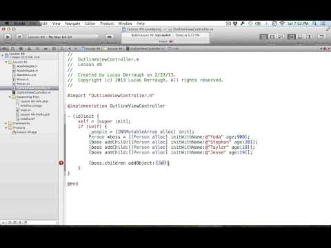 Cocoa Programming L49 - NSOutlineView Intro