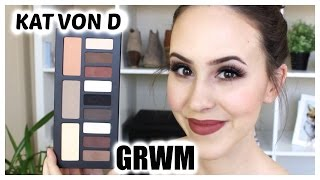 GRWM: Kat Von D Shade + Light Eye Contour Palette Makeup Tutorial