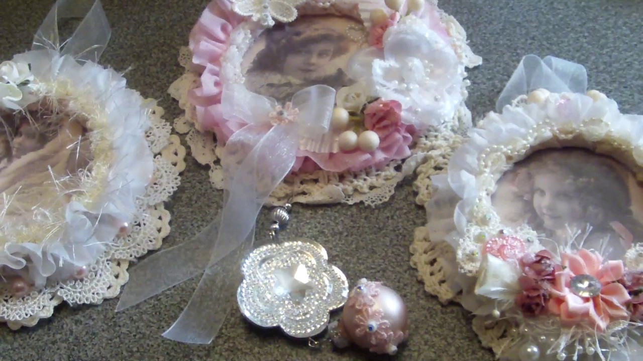 Shabby Chic Christmas Ornaments: dt Cindy Scrapshop - YouTube
