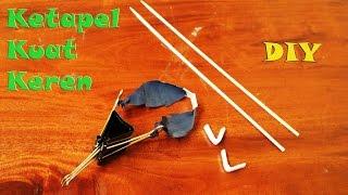 Cara membuat ketapel slingshot tanpa kayu dengan binder clip