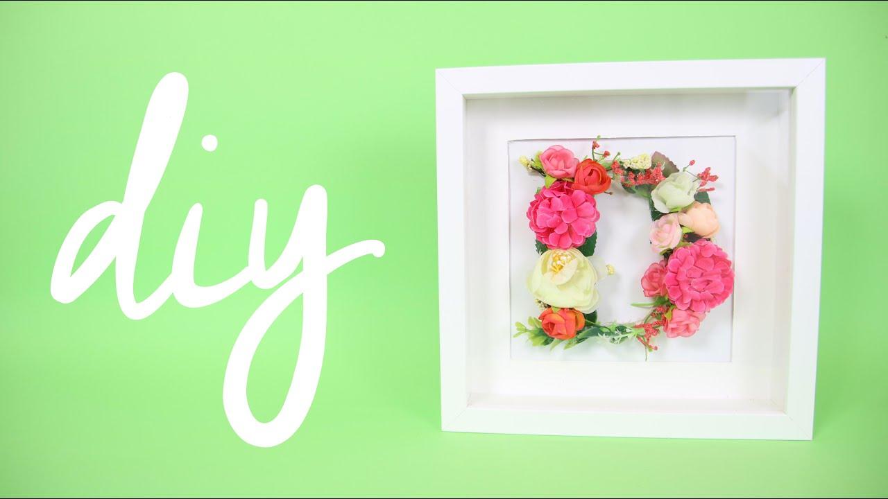 Diy lettera a fiori in cornice ikea youtube for Cornice 30x45 ikea