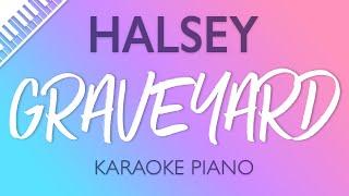 Halsey - Graveyard (Karaoke Piano)