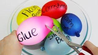 Watch Me Fail at Making Slimes with Balloons! 😂 Kinda a Slime Balloon Tutorial! So Satisfying ASMR!