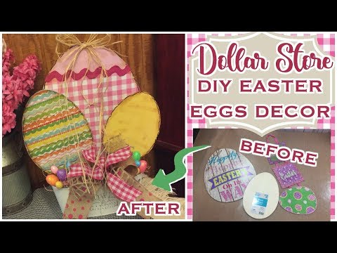 🌸🐰 Dollar Store DIY Easter Eggs Decor || Farmhouse Inspired || Country Charm by Tracy