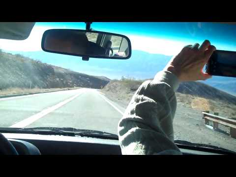 Driving from Death Valley to Lone Pine, California on California Highway 190(CA-190), December, 2014