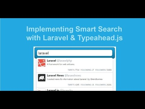 Laravel 5 Autocomplete using Bootstrap Typeahead JS Example with Demo