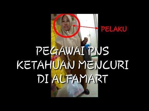 PEGAWAI PNS KETAHUAN MENCURI DI ALFAMART !!!