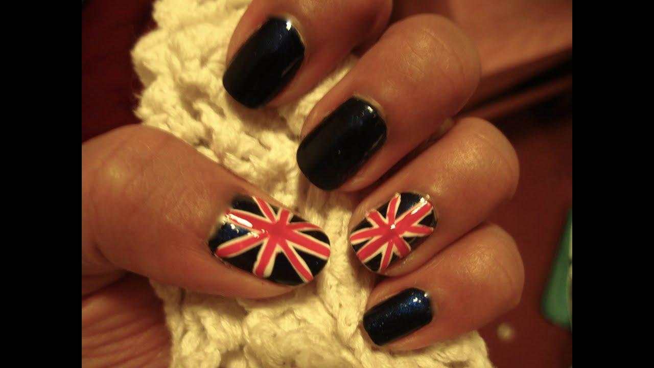 Olympic British Flag Nail Art Youtube