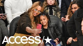 Beyoncé & Blue Ivy Take Adorable Selfies Together At The NBA All-Star Game   Access