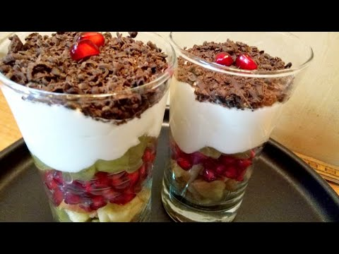 HEALTHY DESSERT RECIPE | MIXED FRUIT DESSERT RECIPES | FRUIT PUDDING |
