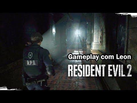 RESIDENT EVIL 2 REMAKE - Gameplay com o Leon! (Legendas em Português PT-BR)