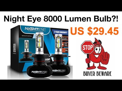 NIGHTEYE NOVASIGHT 8000LM LED BULB - H4 REAL TEST