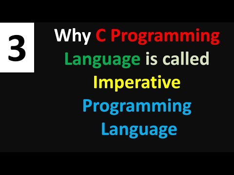 why c programming language is called Imperative programming language tutorial  no 3