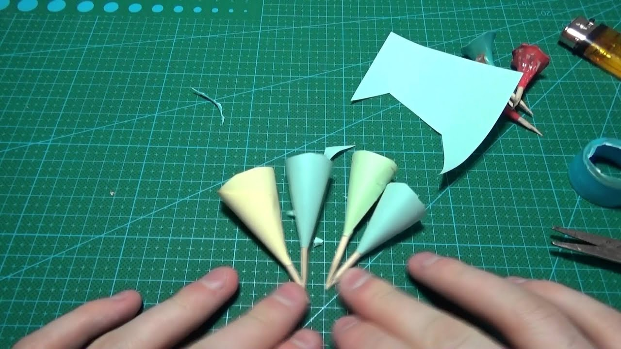 Как сделать из бумаги трубку