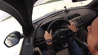 Jaguar F Pace. Основы управления на льду. JLR Experience смотреть