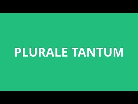 How To Pronounce Plurale Tantum - Pronunciation Academy