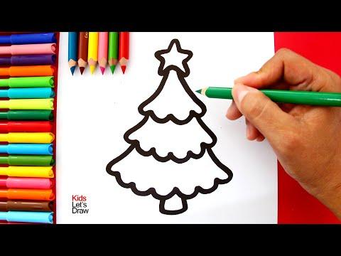 Cómo dibujar un Árbol de Navidad Kawaii