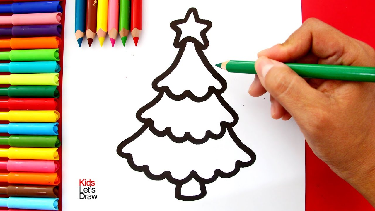 Cómo Dibujar Un árbol De Navidad Kawaii Youtube