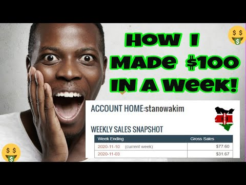 How to Make Money Online - $100/Week with Clickbank.