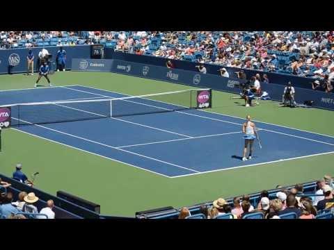 Last 3 points of the first set. Serena Williams - Bouchard in Cincinnati 2013
