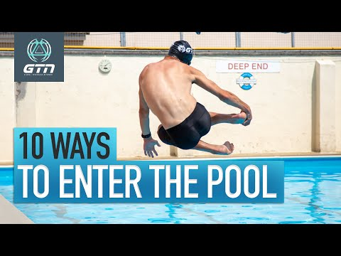 10 Ways To Enter The Swimming Pool!