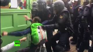Suffer for democracy? Police crackdown at Barcelona school during independence referendum