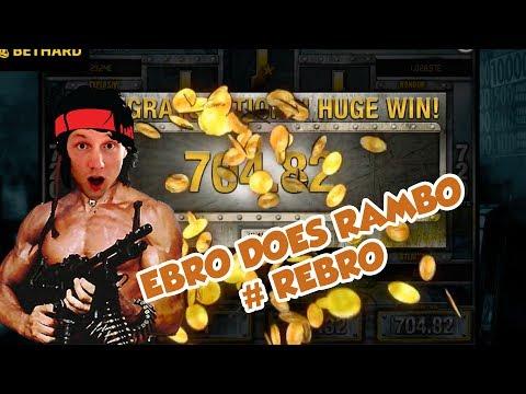 BIG WIN!!!!! RAMBO bonus round from LIVE STREAM (Casino Games)