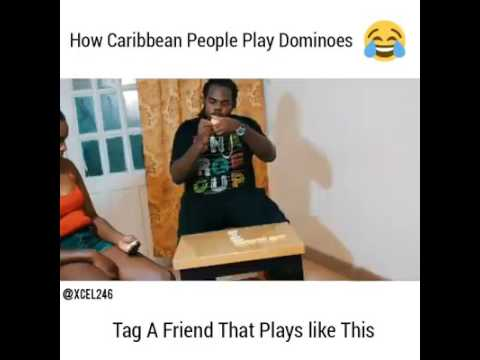 How Caribbean People Play Dominoes