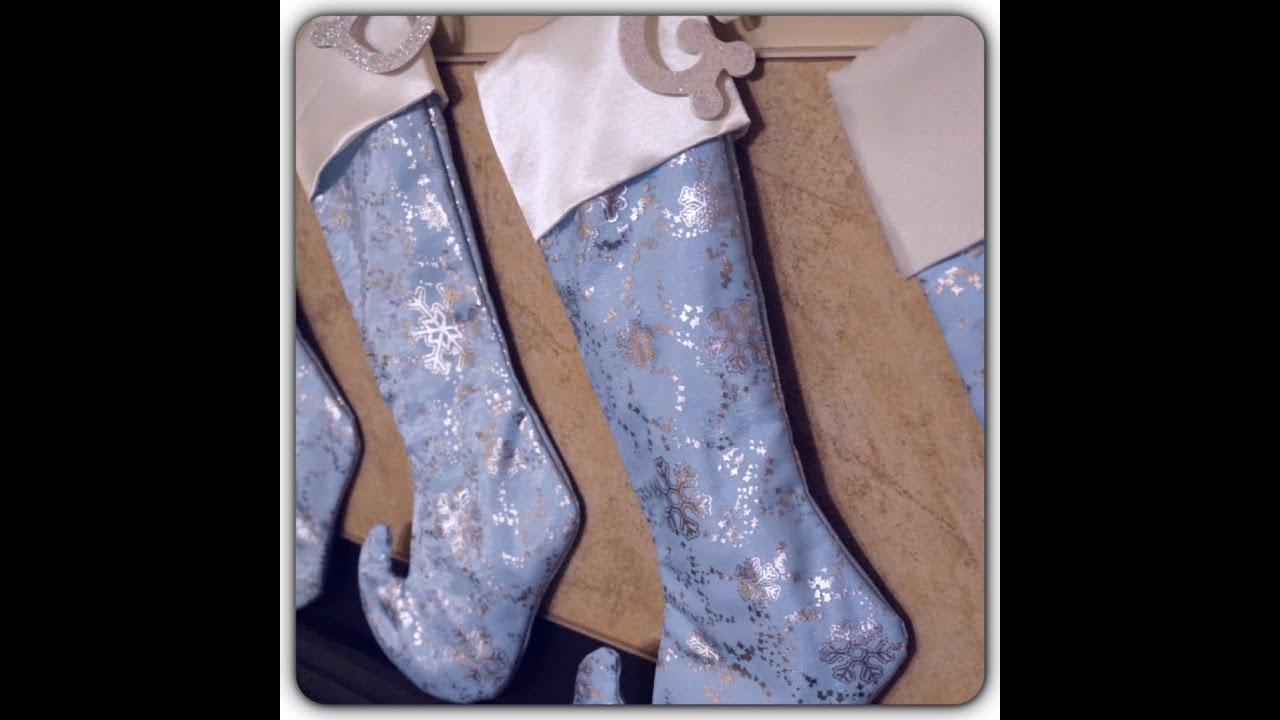 Diy sew a christmas stocking w lining cuff no raw seams youtube jeuxipadfo Gallery