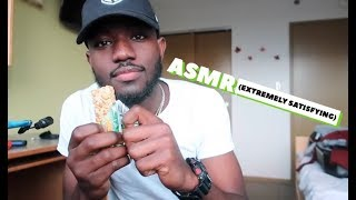 Asmr Eating  Extremely Satisfying  Apple + Granola Bar + Chips + Comb
