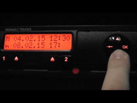 Siemens Digital Tachograph - Manual Entry (How To)