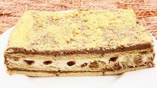 Песочный торт без выпечки с нежной творожной прослойкой. ВКУС ДЕТСТВА!!!