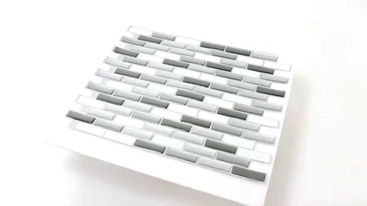 k chenspiegel vinyl mosaik klebemosaik 3d silber grau mix youtube. Black Bedroom Furniture Sets. Home Design Ideas