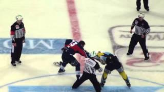 Adler Mannheim vs Krefeld Pinguine 21.12.12 Schlägerei