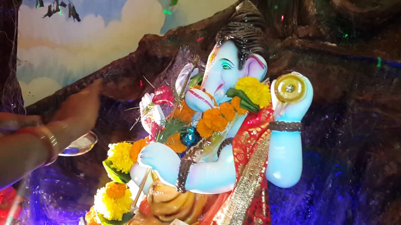 Best Home Ganpati Decoration Water Falls YouTube
