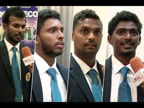 Sri Lanka team members sharing their thoughts before leaving to England