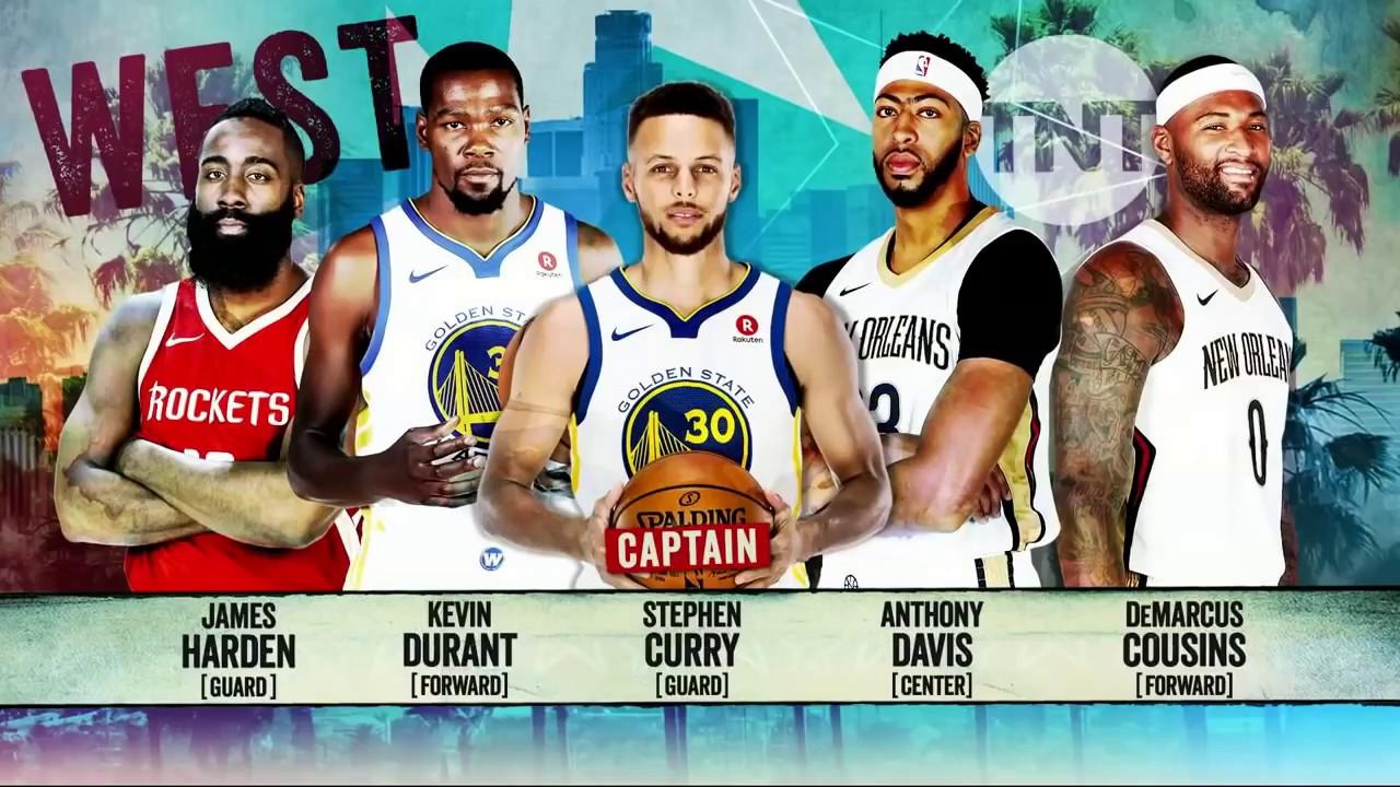 2018 NBA All-Star Starting Lineups - PurposeGames.com