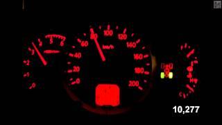Mistubishi L200 (without load) Acceleration 0-100 km/h (Measured by Racelogic)
