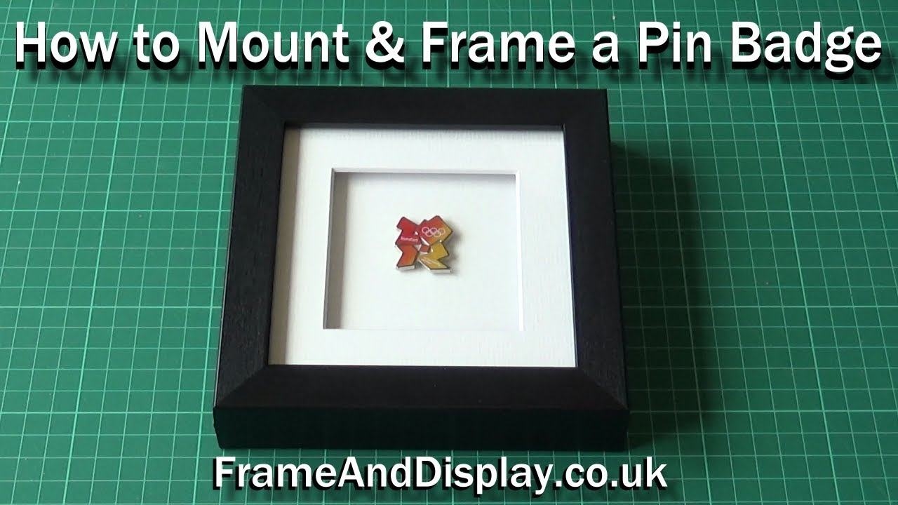 How to frame a Pin Badge