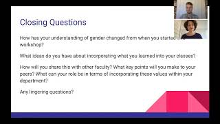 Supporting Trans Students Workshop: Closing Questions