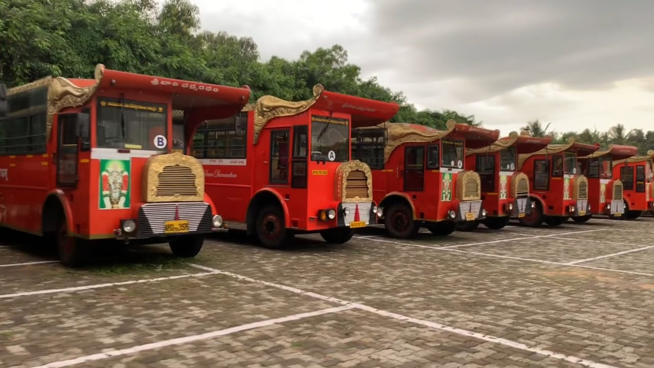 Best Scene From Tirumala, Srivari Dharma Radham Buses Line Up
