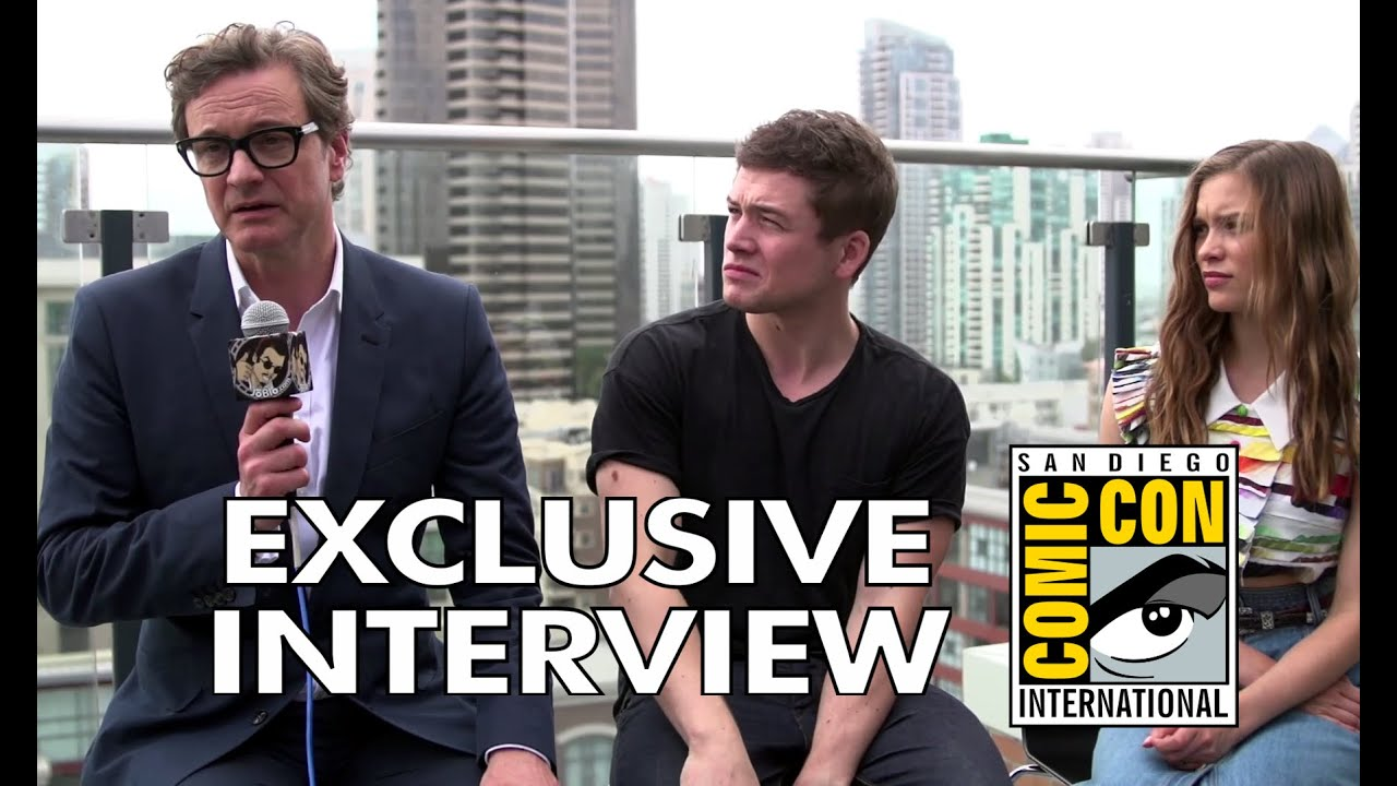 Exclusive Colin Firth Taron Egerton And Sophie Cookson: Comic Con 2014: Colin Firth, Taron Egerton & Sophie