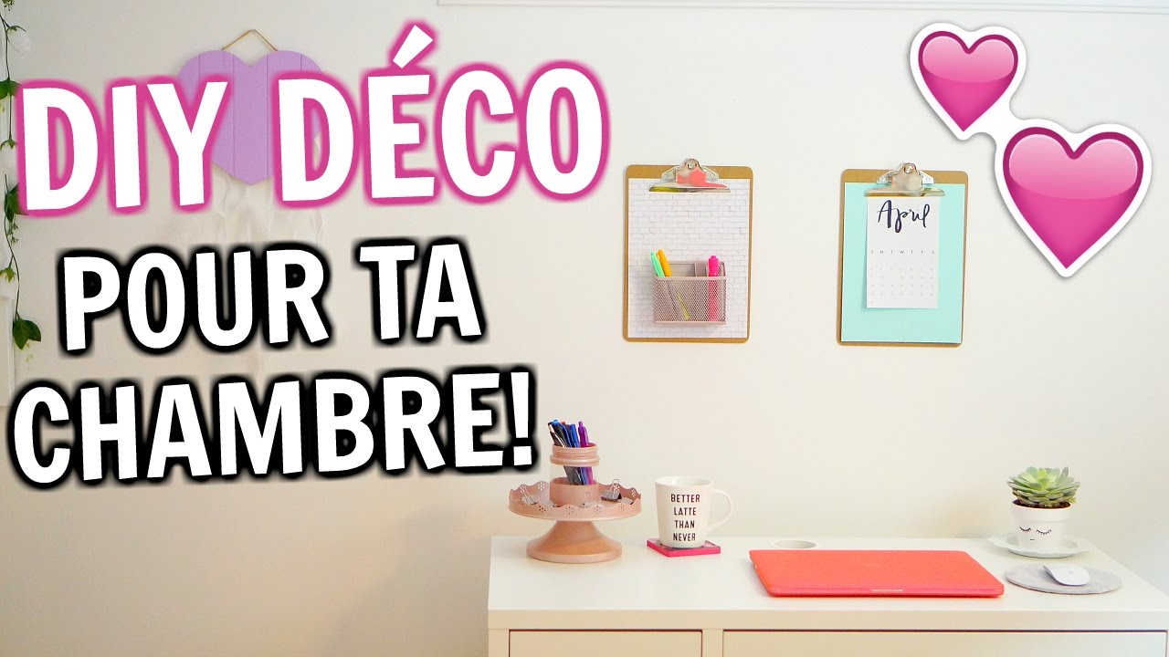 diy d co pour ta chambre am lie barbeau youtube. Black Bedroom Furniture Sets. Home Design Ideas