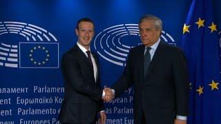 Mark Zuckerberg arrive au parlement européen pour son audition