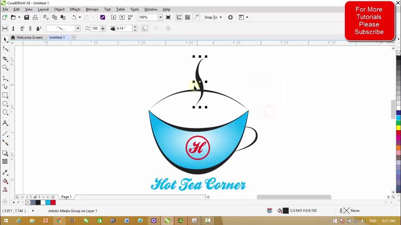 corel draw x8 tutorials simple logo designing youtube rh youtube com Drawing Tutorials Window 7 CorelDRAW Tutorials