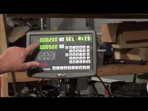 ShenZhen HXX GCS900 2DB Lathe Dro Install Part 9: Setting up Diameter / Radius Mode