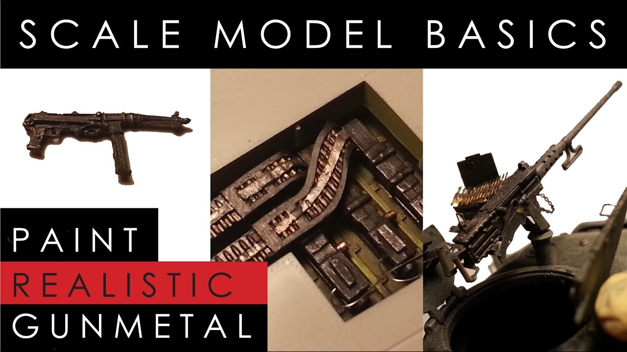 How to paint gunmetal on scale model planes, tanks and military figures
