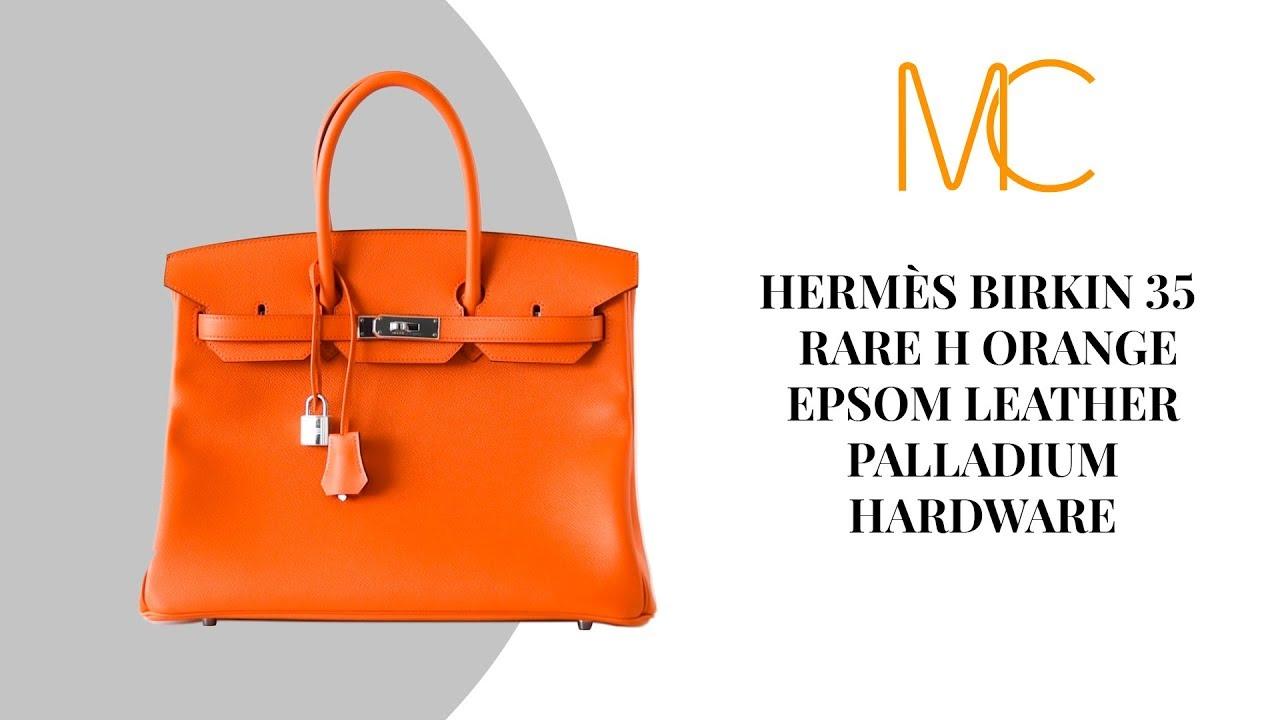 8566b1ed175 MIGHTYCHIC • HERMÈS Birkin 35 Rare H Orange Epsom Palladium Hardware ...