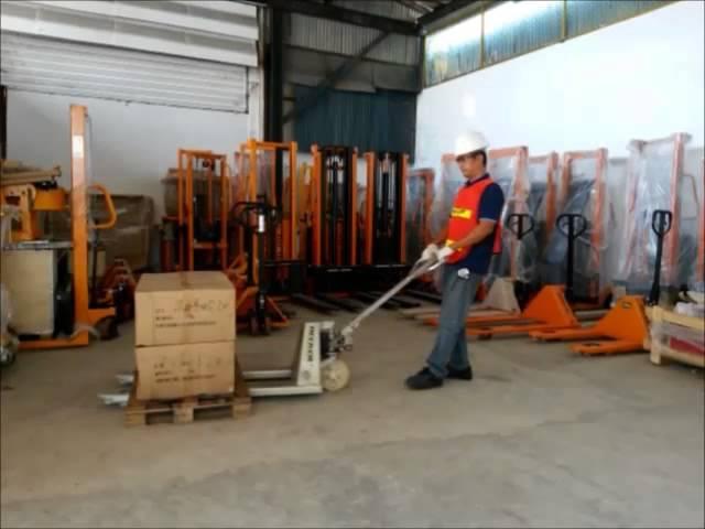 รถยกของ, รถลากพาเลท,รถลากชุบกาวาไนท์,ใช้ในห้องเย็น HPG25S Hand pallet truck HECKER