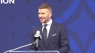 Entire David Beckham speech at statue unveiling by the LA Galaxy